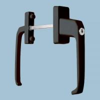 Ручка балконная BHS-2 с ключом, коричневая