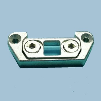 Запорная пластина для дверного шпингалета ПВХ Рама